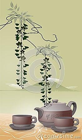Asian Tea Illustration