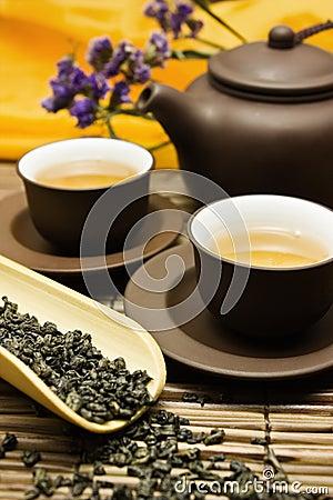Free Asian Tea Set. Stock Photos - 6831643