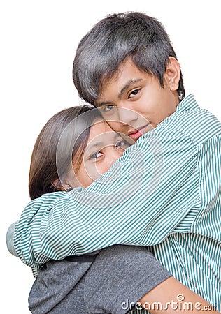 Asian teen couple love