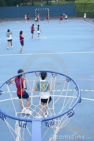 Free Asian Teen Netball Game Royalty Free Stock Images - 19120579