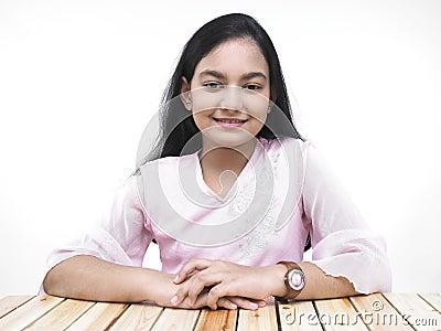 Asian teenage girl of indian origin