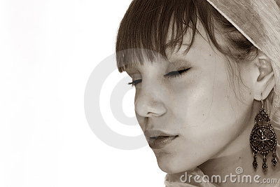 Asian teenager portrait