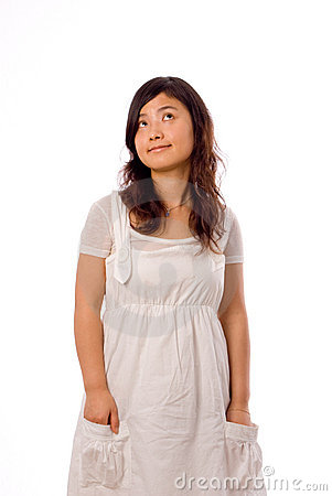 Asian teenager in White