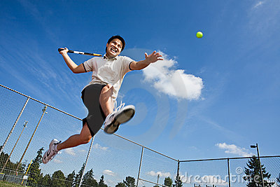 Asian tennis player