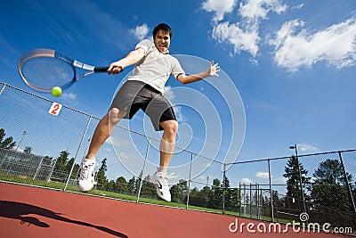 Asian tennis player