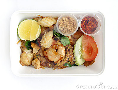 Asian thai ethnic food takeaway
