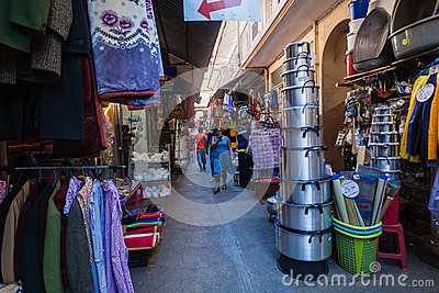 Trading Stores Arcade Editorial Stock Image