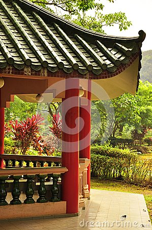 Asian traditional roof architecture