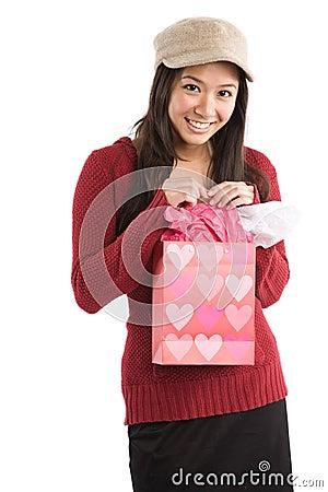 Asian valentine girl