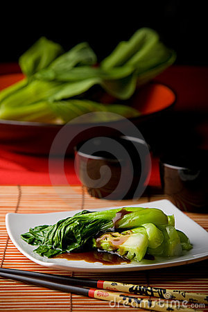 Asian vegetables with oyster sauce