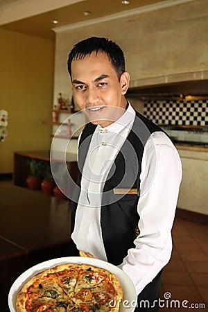 Asian waiter