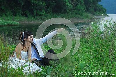 Asian wedding couples