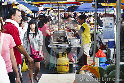 Asian Wet Market Editorial Stock Photo