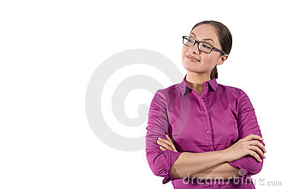 Asian woman with arms crossed