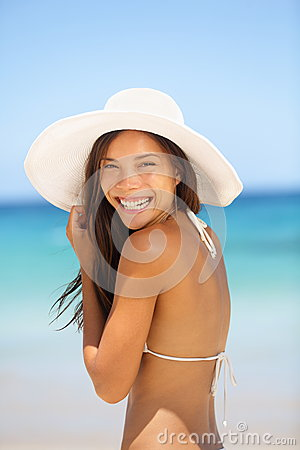 Asian Woman Beach Portrait Royalty Free Stock Photos - Image: 28613918