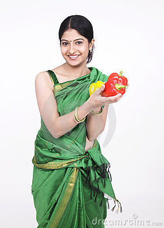 Asian woman with capsicum