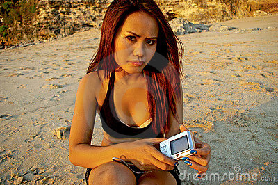 Asian woman with her camera