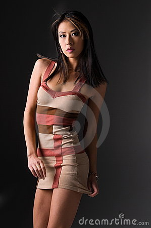 Asian Woman in Mini Dress