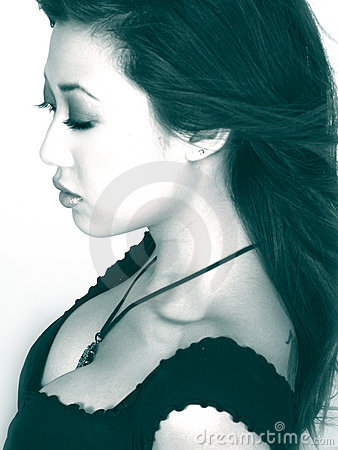 Asian Woman In Profile