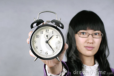 Asian Woman Remind Don t be Late or Slow