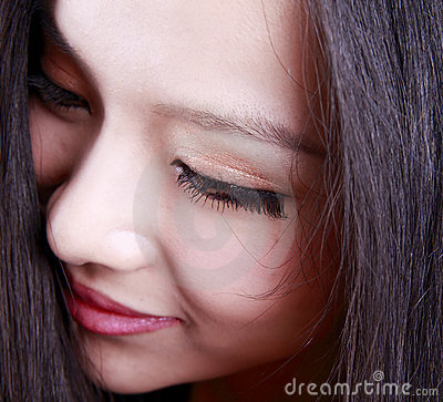 Asian woman s face