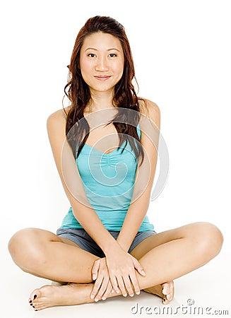 Free Asian Woman Sitting Royalty Free Stock Photo - 1077095