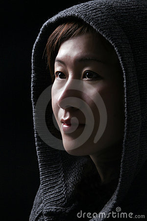 Free Asian Woman With Hood Royalty Free Stock Image - 5319626