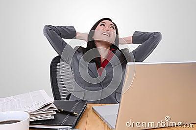 Asian Woman at Work