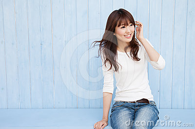 Asian Women Fluttering Hair Royalty Free Stock Photos - Image: 24380338