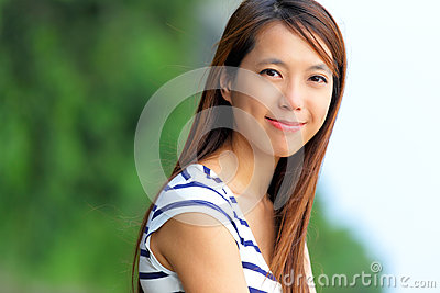 Asian women at outdoor