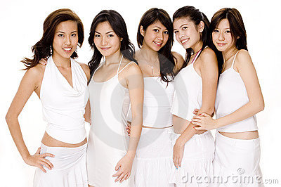 Asian Women In White #1