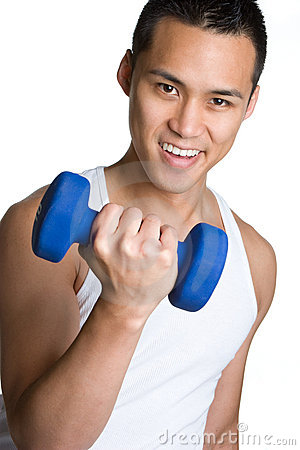 Asian Workout Man