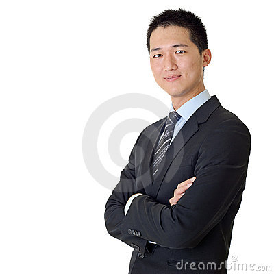 Asian young business man