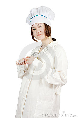 Asian young female cook
