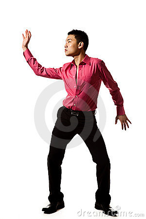 Asian young man in stylish pose