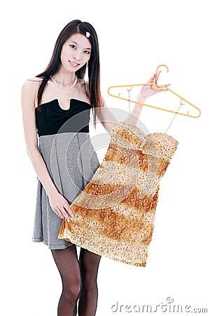 Asian young women shopping