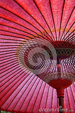 Asiatischer Regenschirm