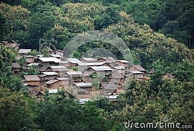 Asiatisches Dorf