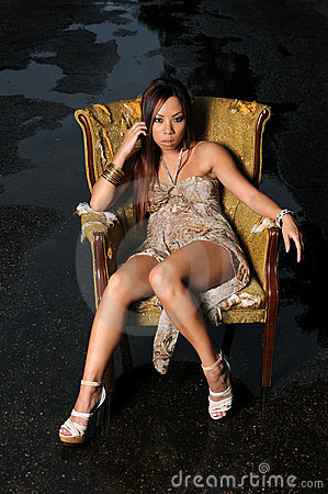 Asiatisk härlig kvinna