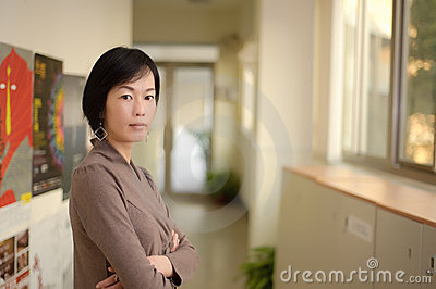 Asiatisk mogen kvinna