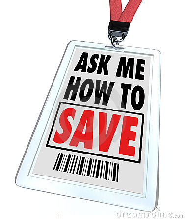 Ask Me How to Save - Lanyard and Badge - Employee
