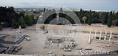 Asklepieion and panorama of city Kos, Greece