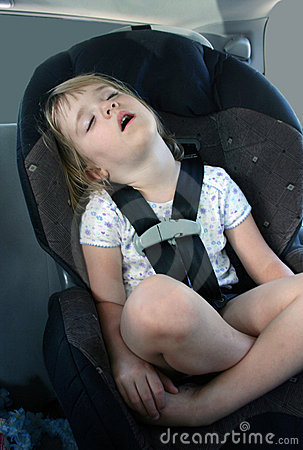 Asleep in the Car Seat
