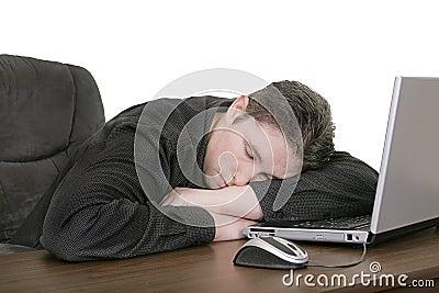 Asleep at the computer