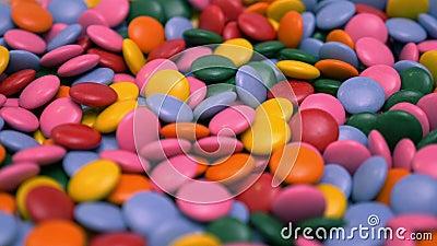 Asorterade färgade juicer stock video
