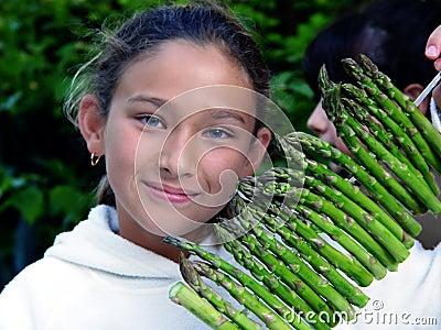 Asparagus girl