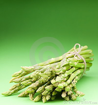 Asparagus on a green