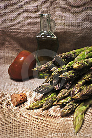 Asparagus and oil
