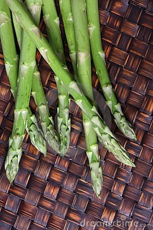 Asparagus Spears on Bamboo