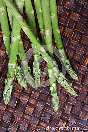 Asparagus Spears on Bamboo